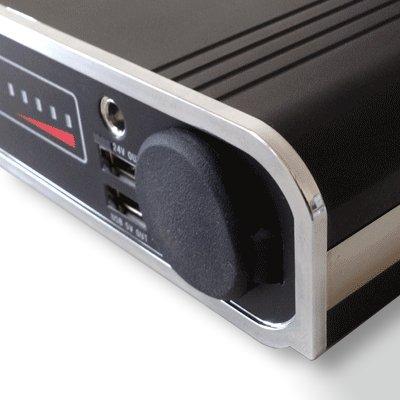 機能的で操作しやすいフロントパネル、出力は3系統装備